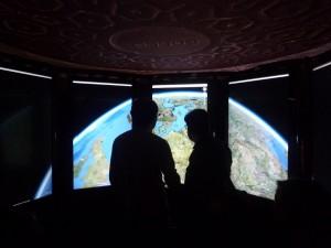 Google Holodeck Google Earth on eight screens
