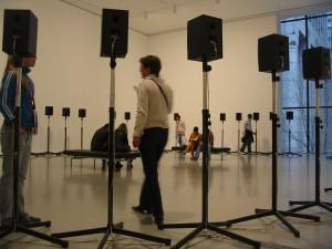 Motet through 40 speakers at MoMA